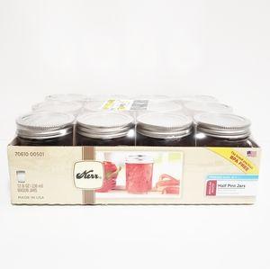 KERR 12 (8oz) Mason Jars With Lids And Ban…